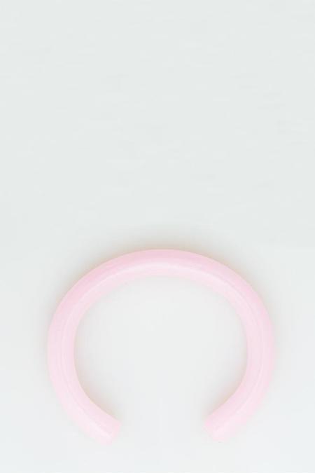 Keane Glass Cuff - Pink