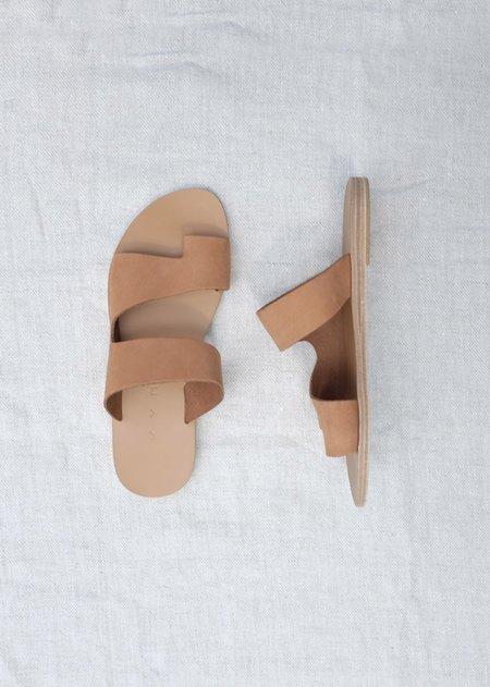 Kyma Gavdos Sandals - Light Brown Nubuck