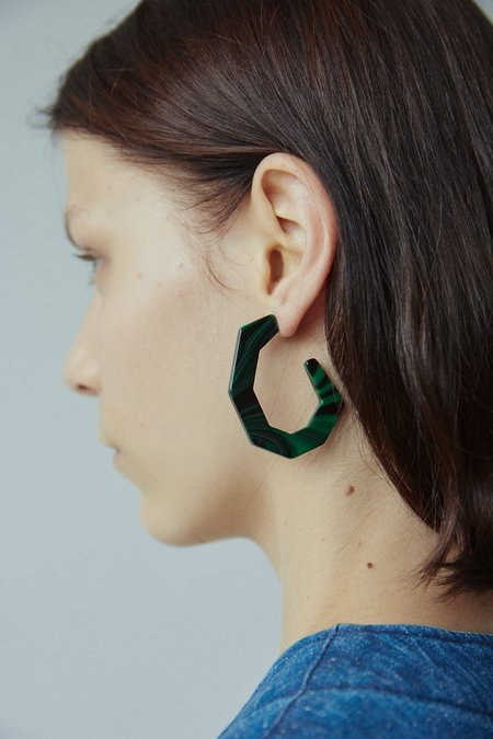 Rachel Comey Baby Factor Earring - Malachite