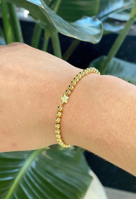 SS JEWELRY Beaded Star Bracelet - Gold
