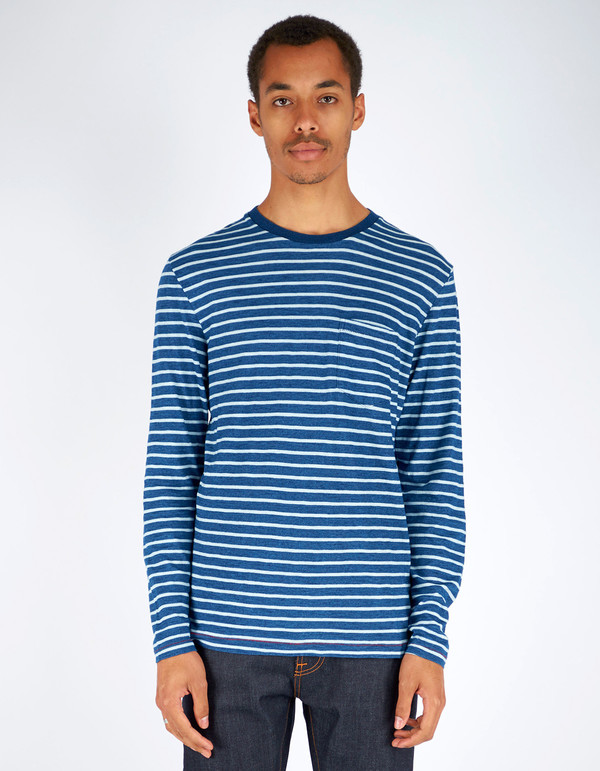 Men's Deus Avalon Long Sleeve T-Shirt Dark Indigo