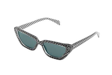 KOMONO Tony Track Sunglasses - black/white/green