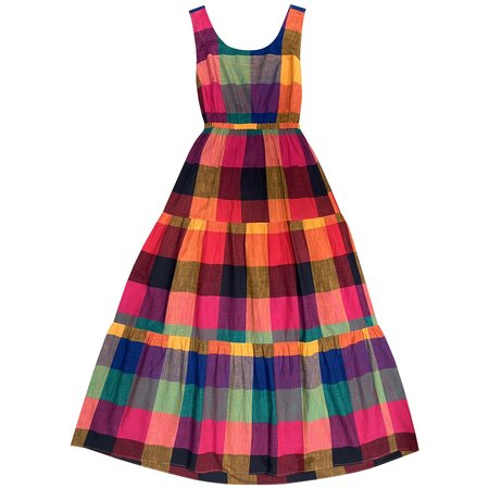 Rujuta Sheth Gema Tier Dress - Multi Chex