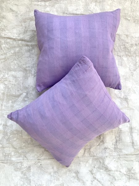 Cuttalossa & Co. Over Dyed Cotton Pillow - Lilac