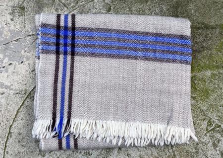 Auntie Oti 3 Stripe Wool Throw