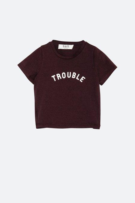 Kids Sea NY Trouble T-Shirt - Fig