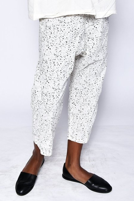 UZI Drop Crotch Pant - Splatter/Cream