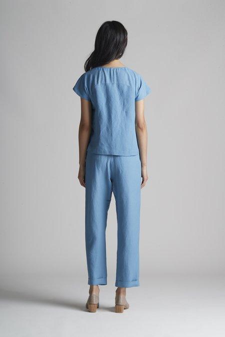 Christine Alcalay Raglan Sleeve Linen Top
