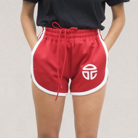 Telfar 70s Track Shorts - Red
