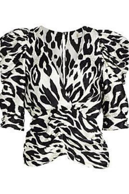 Ronny Kobo Liliana Top - Printed Leopard Jacquard