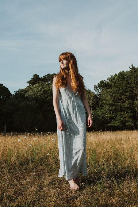 Conrado Frances Maxi Dress - Sky Blue Print