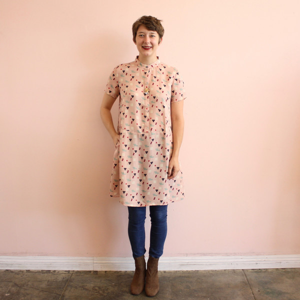 Dusen Dusen oversize tee dress - pink five dot