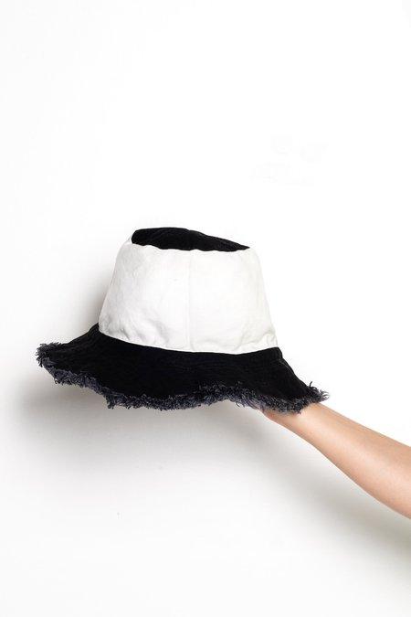 Unisex Ashley Rowe Bucket Hat - Black/White
