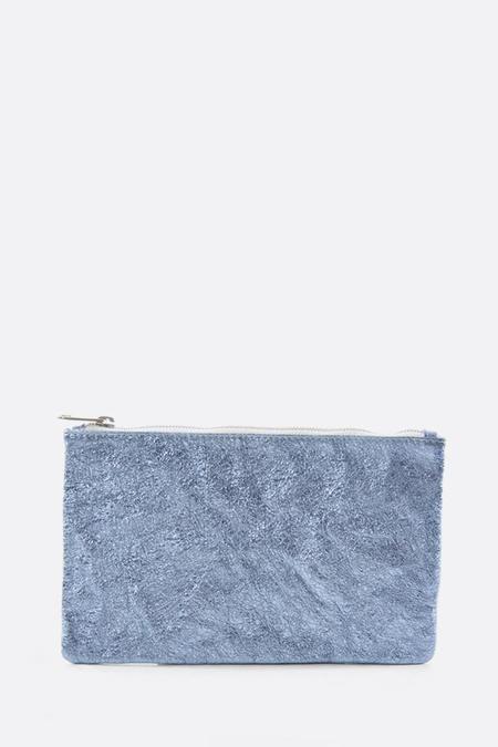 Zilla Metallic Big Pouch - Baby Blue