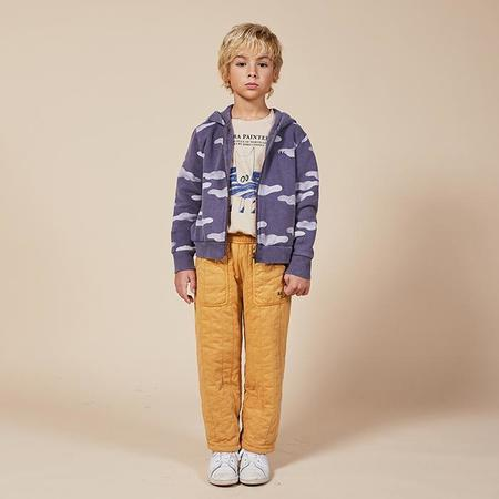 Kids Bobo Choses Child Hooded Sweatshirt With All Over Clouds Print - Purple