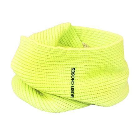 Kids Bobo Choses Child Knit Scarf - Neon Yellow