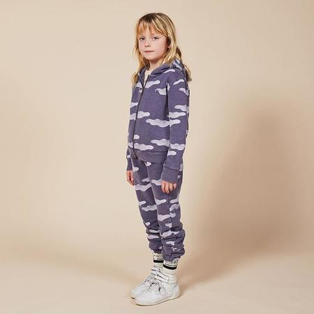 Kids Bobo Choses Child Sweatpants With All Over Clouds Print - Purple