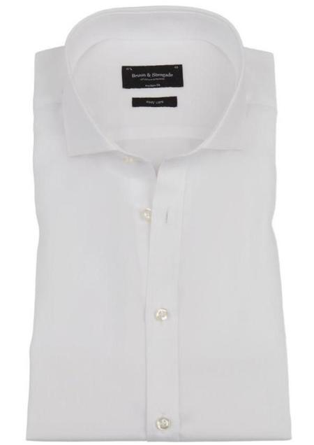 Bruun & Stengade Bradley Long Sleeve Button Up - White