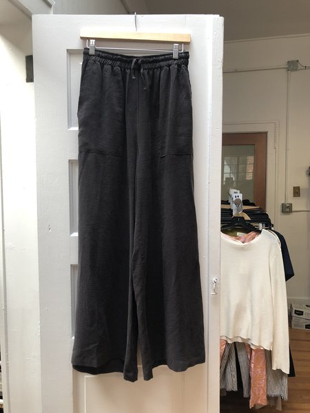 [Pre-loved] Back Beat Co. Seersucker Pant - Washed Black