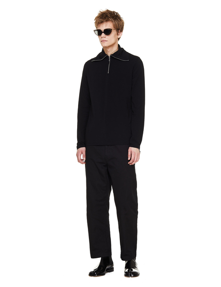 Jil Sander Cotton Turtleneck - Black