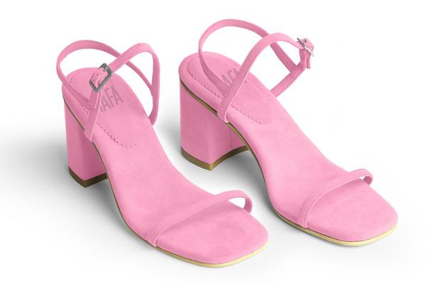 Rafa The Simple Sandal –Peony