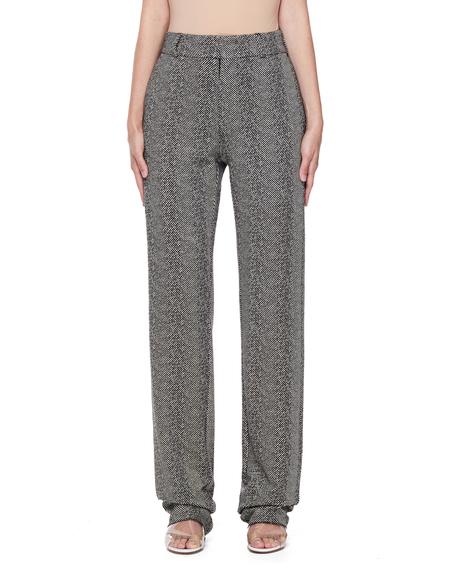 Vetements Tweed Trousers - Black