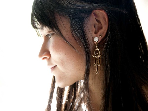 Laurel Hill Jewelry Callisto Earrings // Moonstone