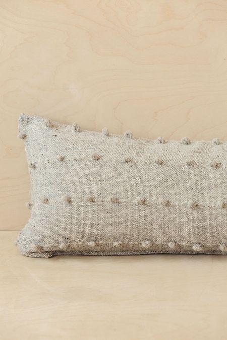 Territory Lumbar Loops Pillow Cover - Grey