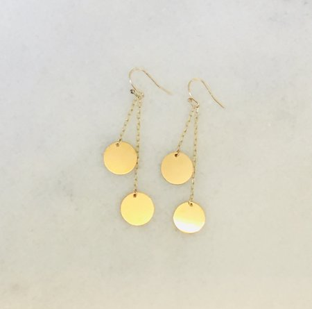 Jennifer Tuton Disc Earrings - Gold