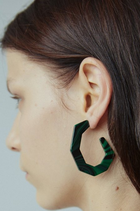 Rachel Comey Baby Factor Earrings - Malachite