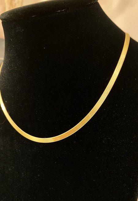SS JEWELRY Thin Herringbone Necklace - Goldfill