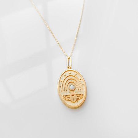 Thatch Khepri Charm Necklace - Gold