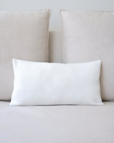 VOZ Apparel Solid Lumbar Pillow - Ivory