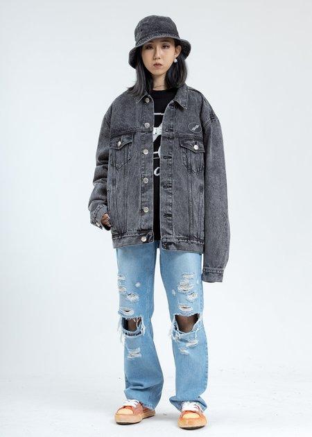 we11done Oversized Denim Jacket - Black