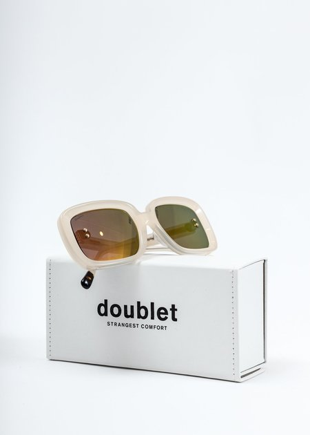 Doublet Square Flame Sunglasses - White