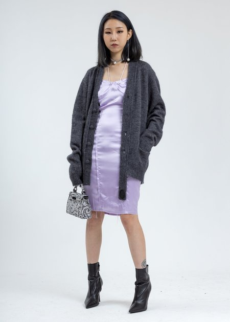 we11done Mohair Cardigan - Grey