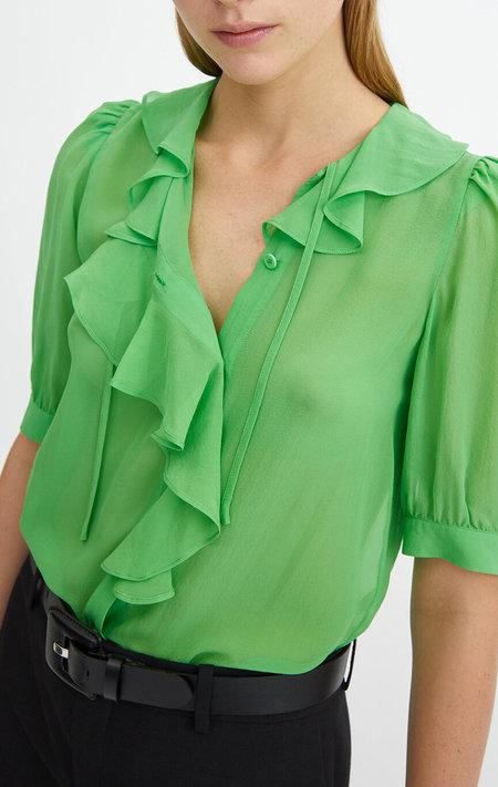 RODEBJER Xilla Silk Blouse - Emerald Green
