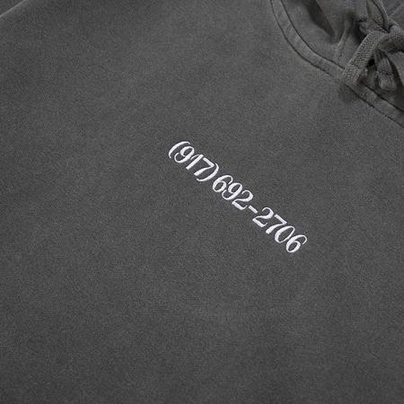 Nine One Seven Small Dialtone Pullover Hoodie - Pigment Dyed Black