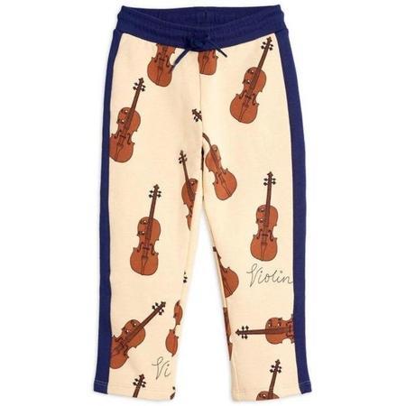 Kids Mini Rodini Violin Sweatpants - Beige