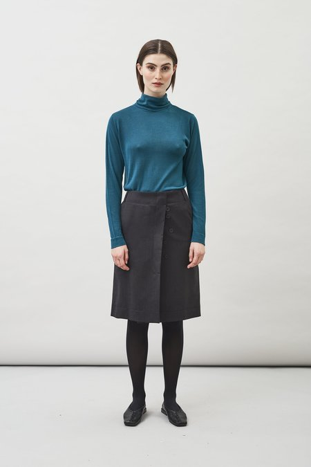 Maska Loka Roll Neck Sweater - Peacock Blue