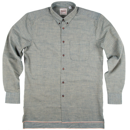 Men's Naked & Famous INDIGO CHAMBRAY SELVEDGE SHIRT