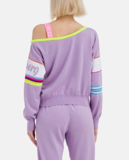 Iceberg Off the Shoulder Sweater - Purple