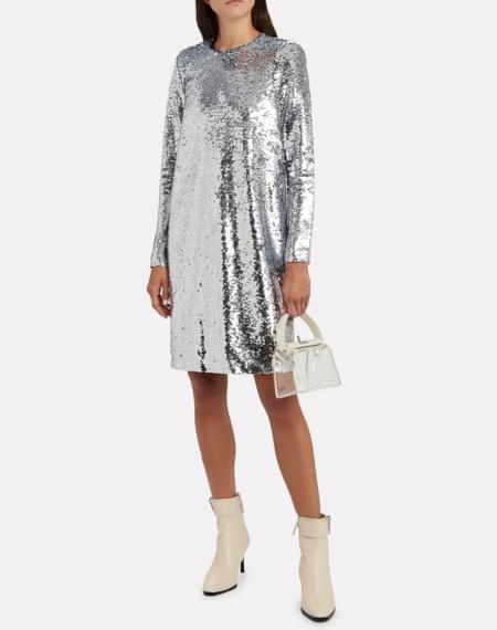 Notes du Nord Mirror Dress - Silver/White