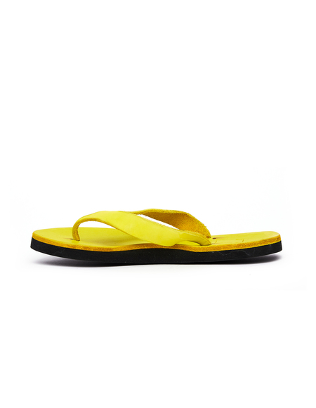 Guidi Leather Flip Flops - Yellow