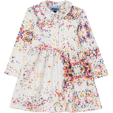 Kids Romey Loves Lulu Sugar Dots Collared Dress