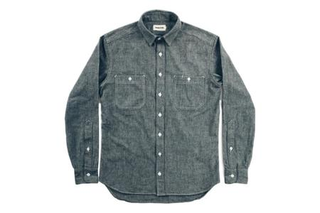 Taylor Stitch The California Everyday Chambray Shirt - Charcoal
