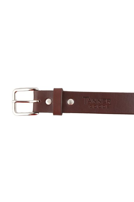 Tanner Goods Daily Belt with Stainless Hardware - Cognac