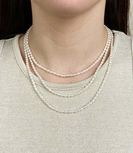 Machete Rice Pearl Necklace - Sterling Silver