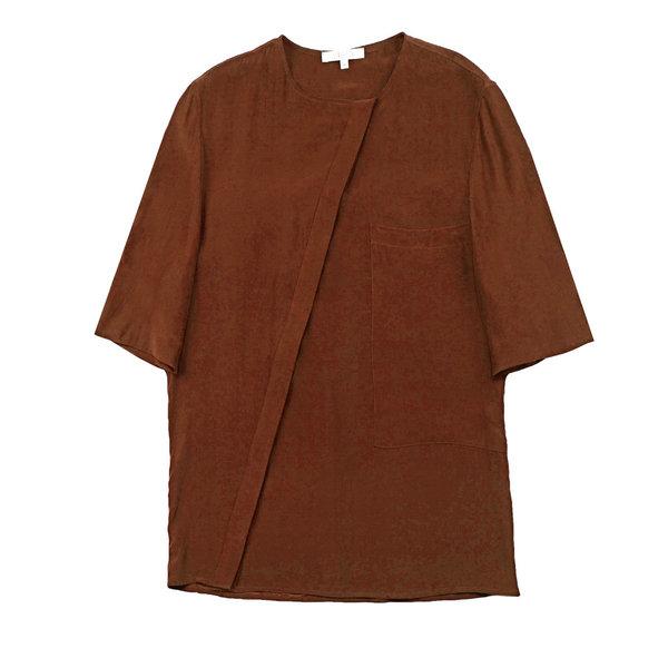 Vincetta Sequoia Asymmetrical Placket Shirt