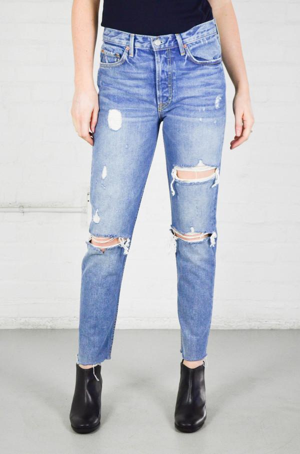 GRLFRND Karolina Back Slit High-Rise Skinny Jeans